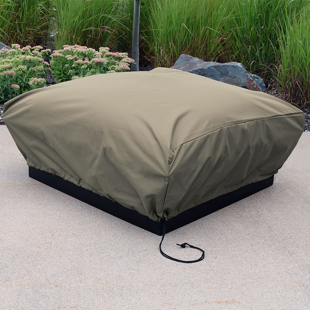 Sunnydaze Heavy Duty Square Khaki Fire Pit Cover 48 Inch Square 18 for proportions 1000 X 1000