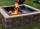 Sunnydaze Large Square Fire Pit Ring Insert Diy Firepit Rim Liner with size 1000 X 1000