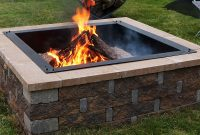 Sunnydaze Large Square Fire Pit Ring Insert Diy Firepit Rim Liner with size 1000 X 1000