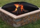 Sunnydaze Square Fire Pit Spark Screen Black Steel Mesh Cover 36 within proportions 1000 X 1000