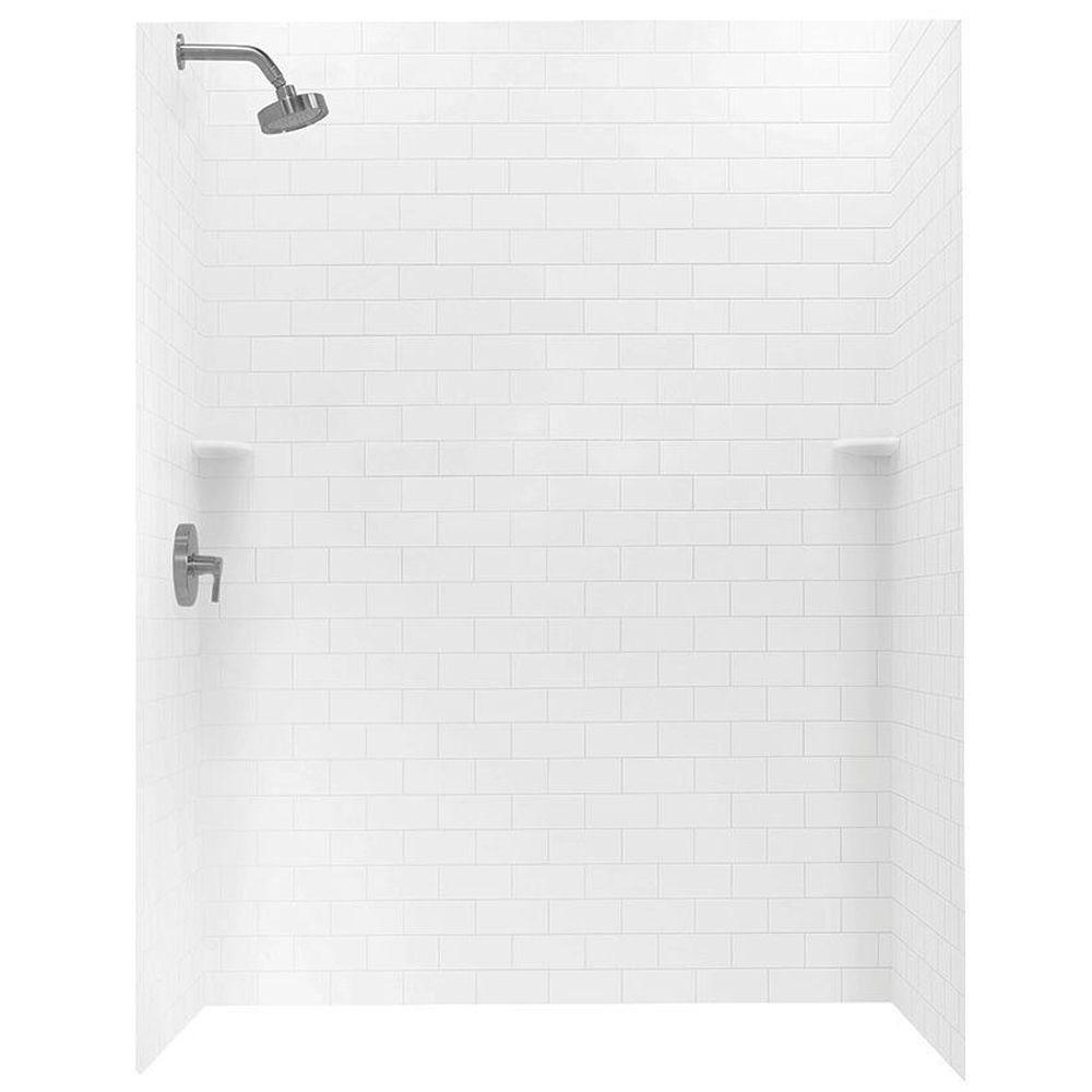 Swan 36 In X 62 In X 72 In 3 Piece Solid Surface Subway Tile Easy intended for size 1000 X 1000