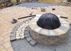Techo Bloc Valencia Fire Pit With Double Hera Onyx Black Antiqa with sizing 2208 X 1656