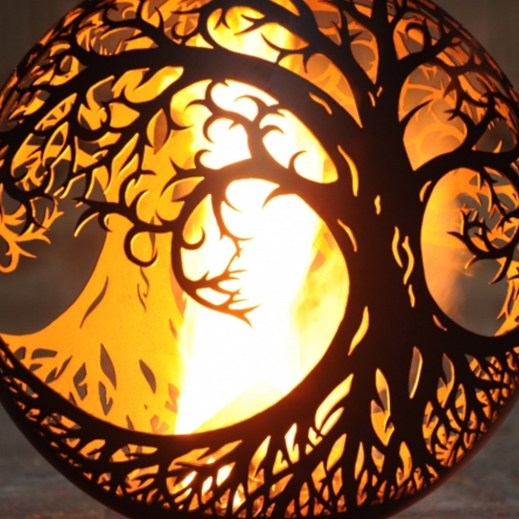The Firepit Company Tree Of Life Ellipse A Bell Spherical Fire for size 1024 X 1024