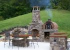 The T Cook Family Wood Fired Pizza Oven Fireplace Combo In West intended for size 1642 X 1200