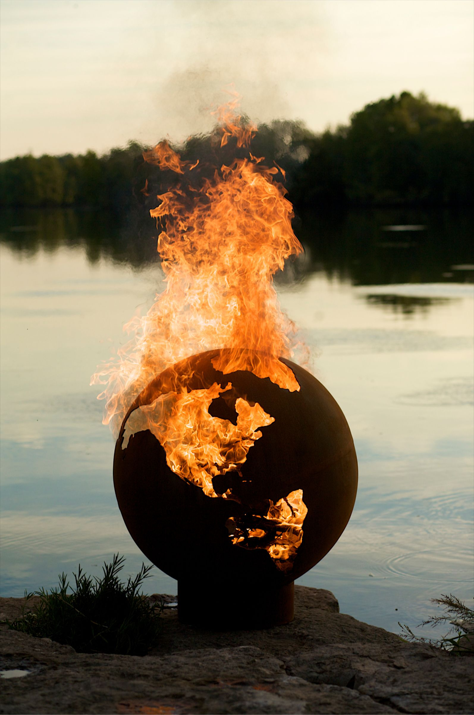 The Third Rock Globe Fire Pit Fire Pit Art Cause Some People for size 1594 X 2400