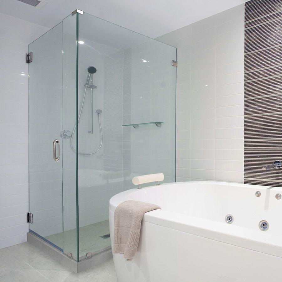 This Glass Shower Door Has 90 Degree Shower Frameless Shower Doors intended for dimensions 900 X 900