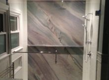 This Is A Full Slab Of Granite As The Back Wall For A Custom Shower in sizing 1224 X 1224