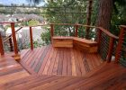 Tigerwood Deck With Benches pertaining to dimensions 4096 X 3040