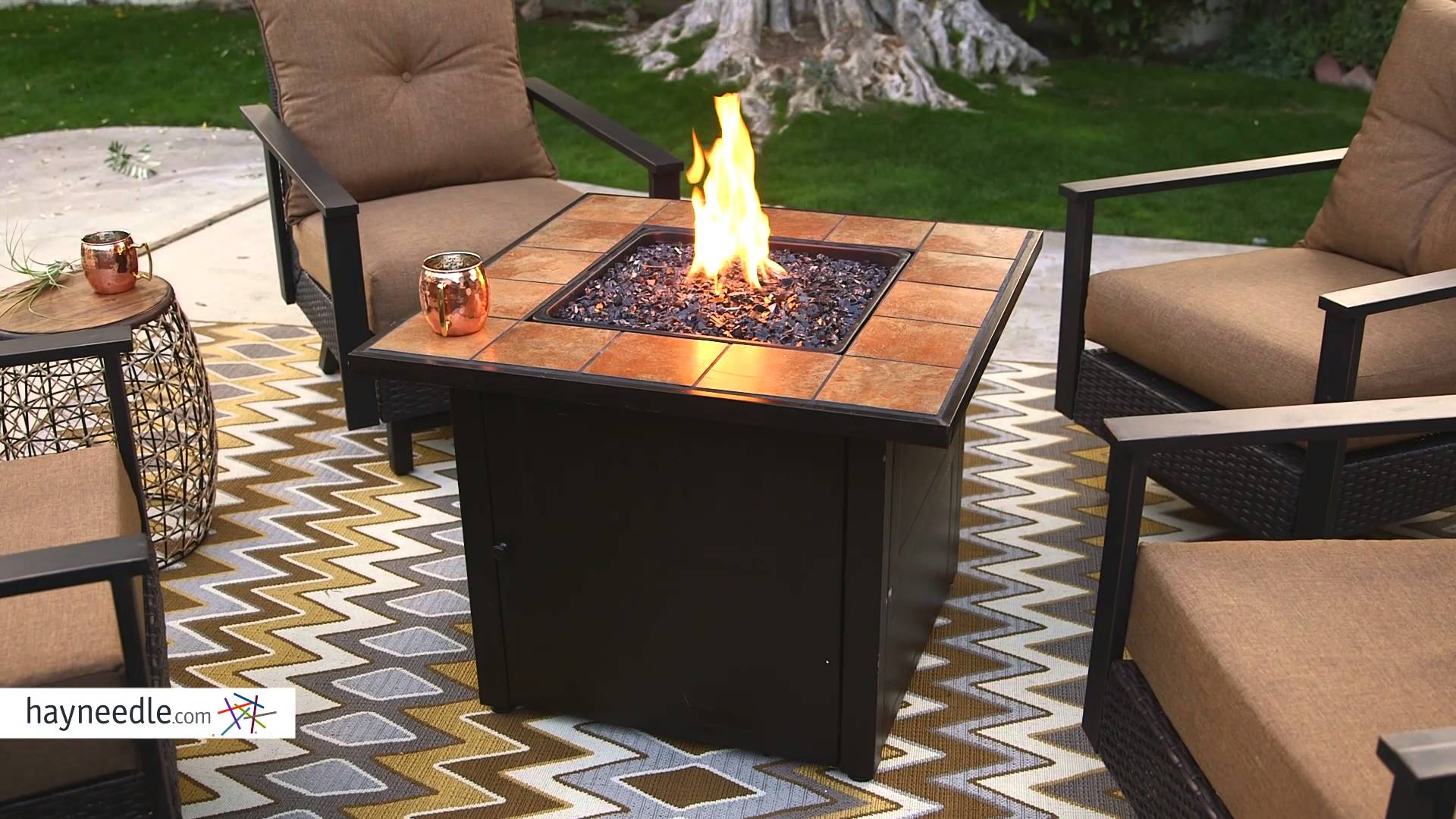 Uniflame Fire Pit 1782 throughout proportions 1920 X 1080