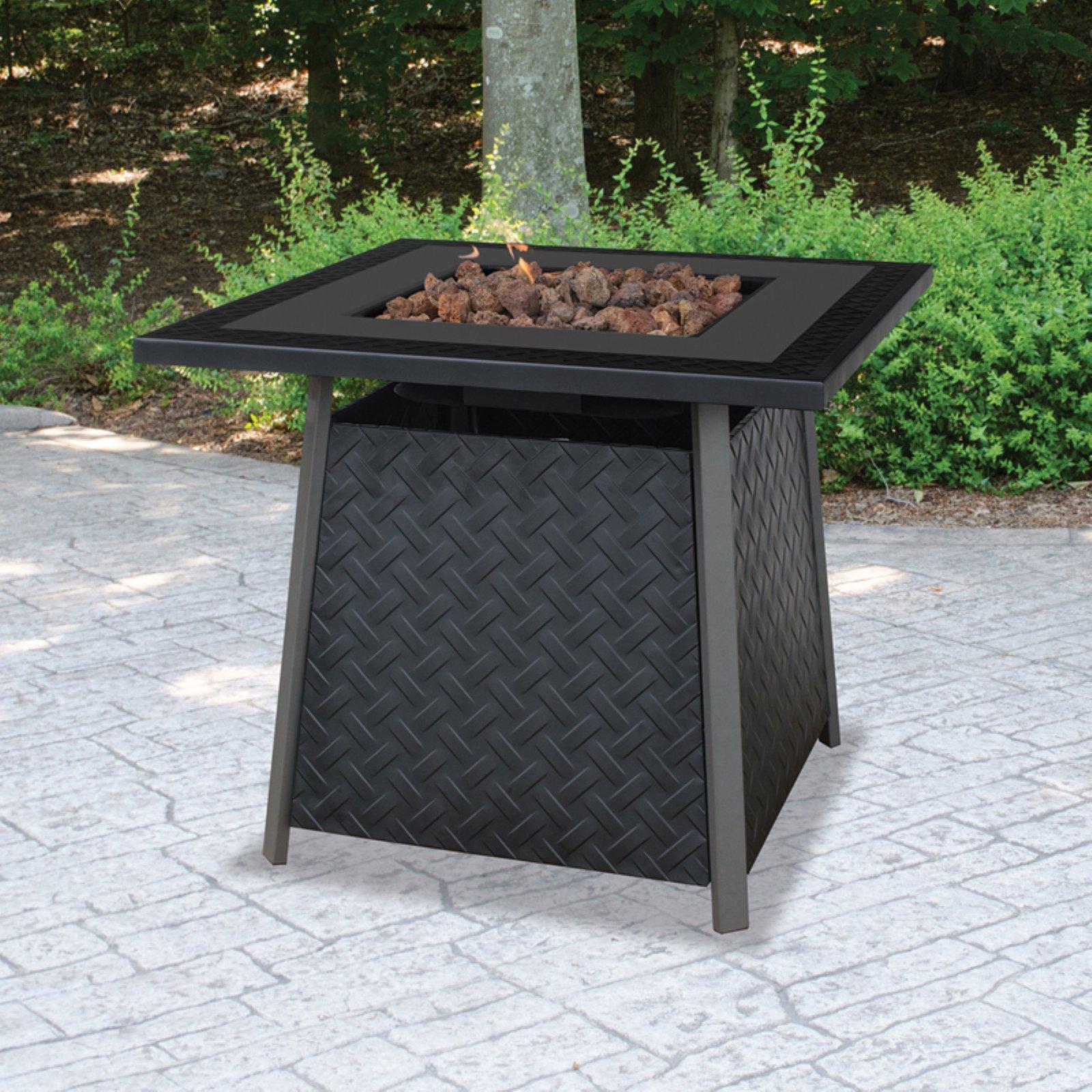 Uniflame Lp Gas Slate Finish Fire Pit Table Walmart regarding size 1600 X 1600