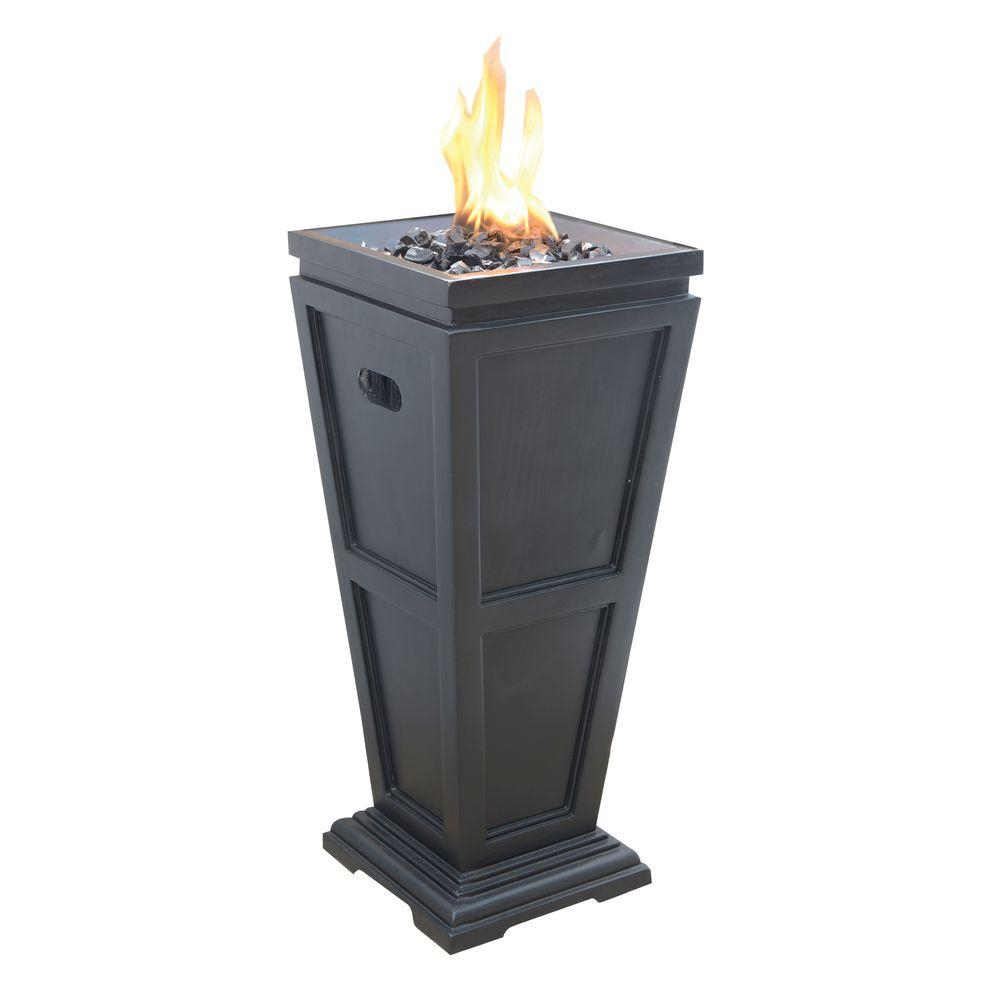 Uniflame Medium 1125 In X 1125 In Propane Gas Fire Pit Glt1332sp pertaining to proportions 1000 X 1000