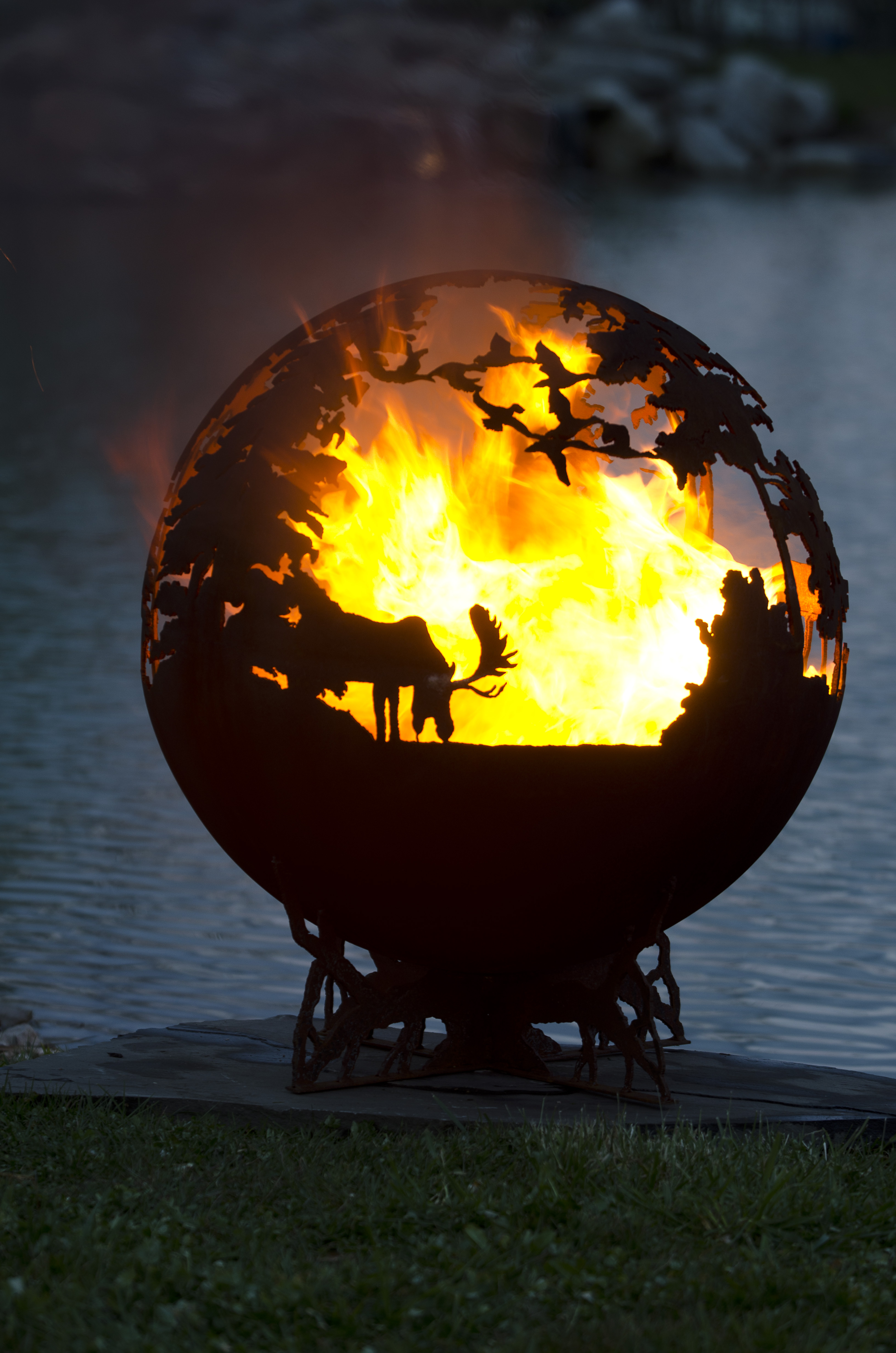 Up North Fire Pit Sphere The Fire Pit Gallery intended for measurements 3264 X 4928