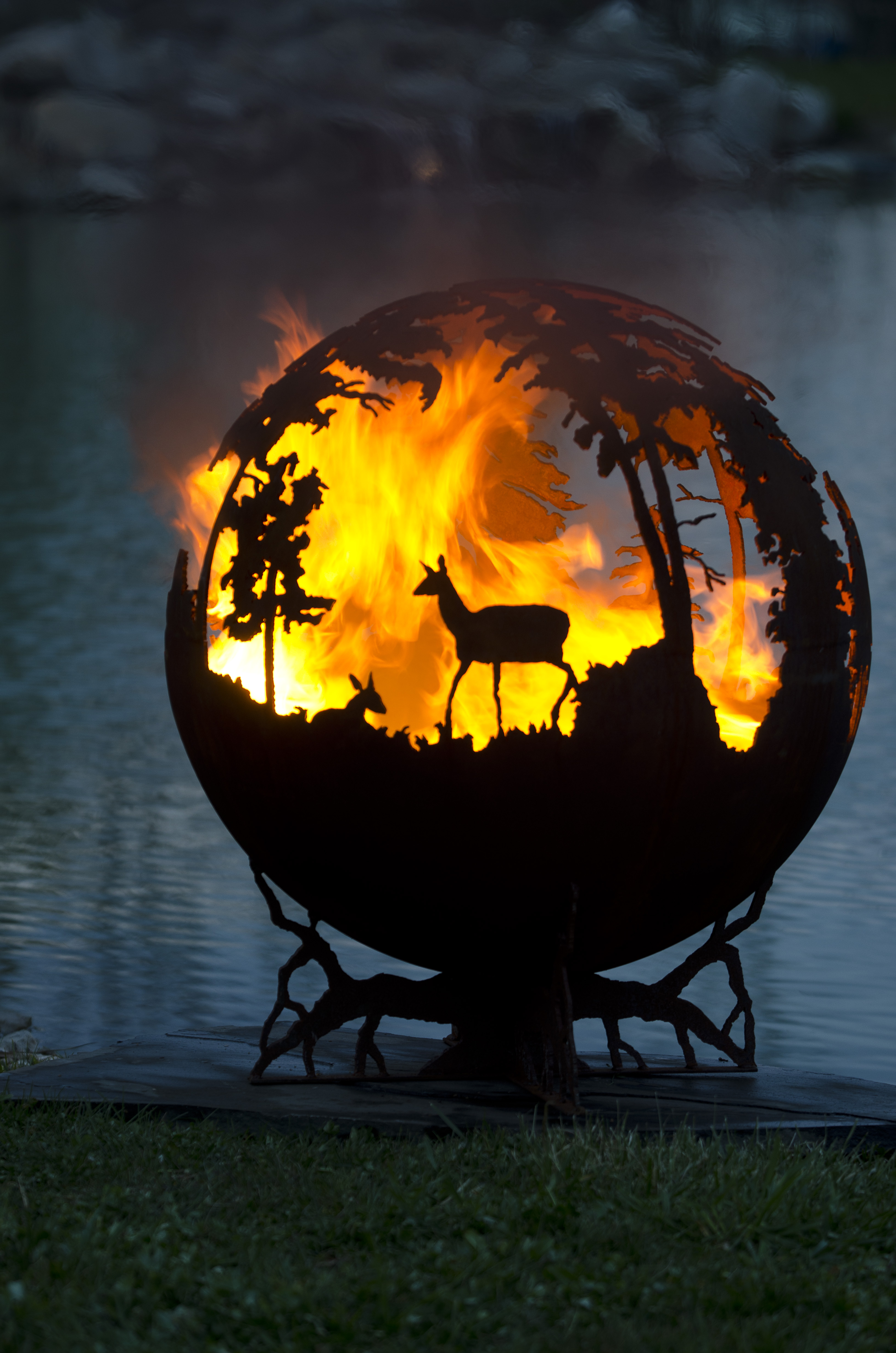 Up North Fire Pit Sphere The Fire Pit Gallery regarding size 3264 X 4928