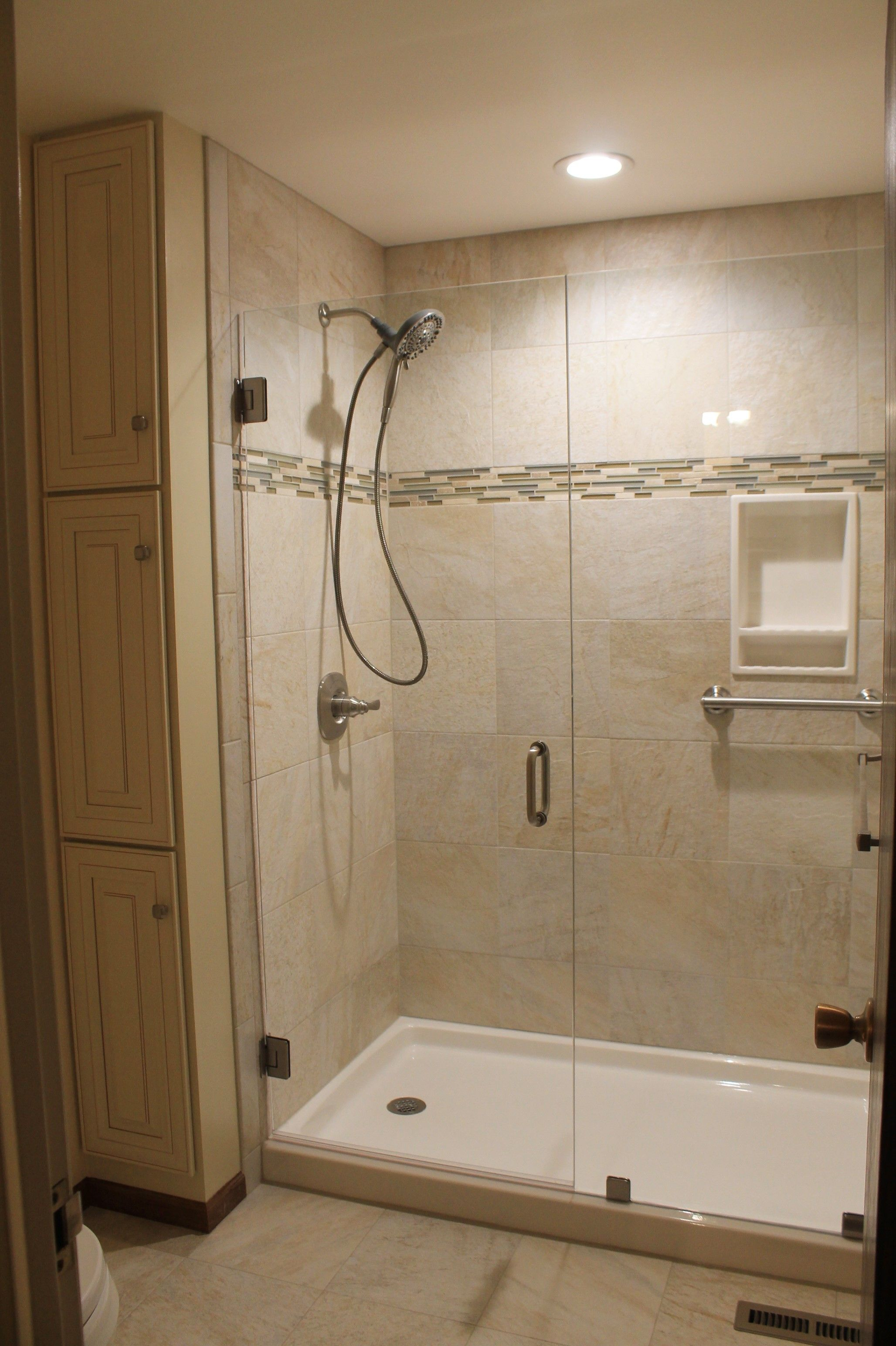 Updated Shower And Vanity Room Onyx Shower Base Tile From World Of pertaining to sizing 2056 X 3088