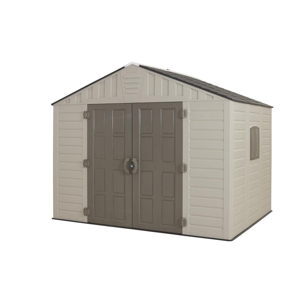 Us Leisure 10 Ft X 8 Ft Keter Stronghold Resin Storage Shed 157479 for proportions 1000 X 1000