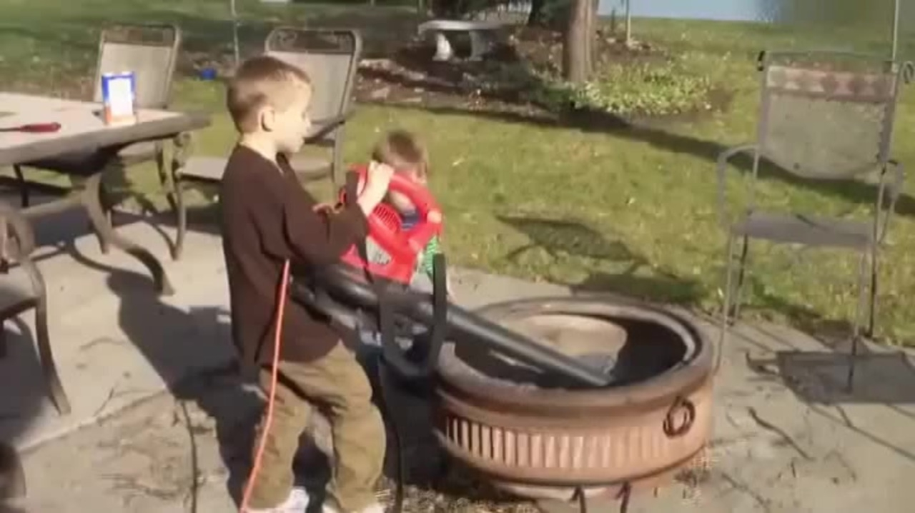 Using A Leaf Blower To Clean Out The Fire Pit Coub Gifs With Sound throughout measurements 1280 X 718