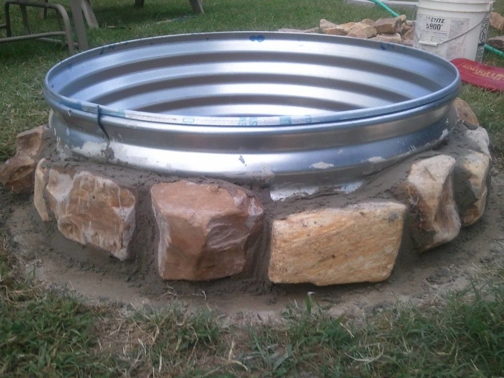 Using Of Galvanized Ring For Fire Pit Safety Garden Ideas Diy pertaining to proportions 1024 X 768
