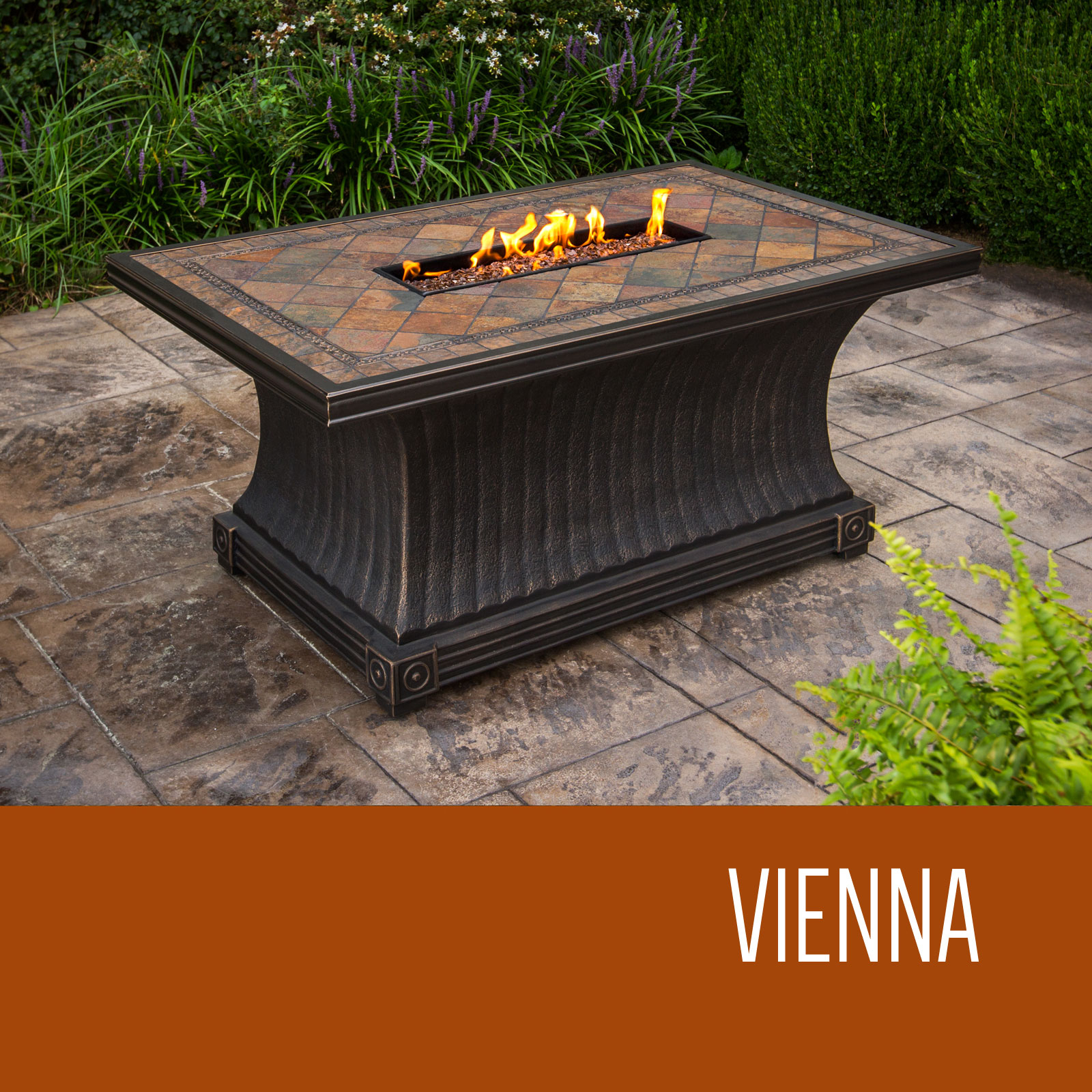 Vienna 32 X 52 Inch Rectangular Slate Top Gas Fire Pit Table in size 1600 X 1600