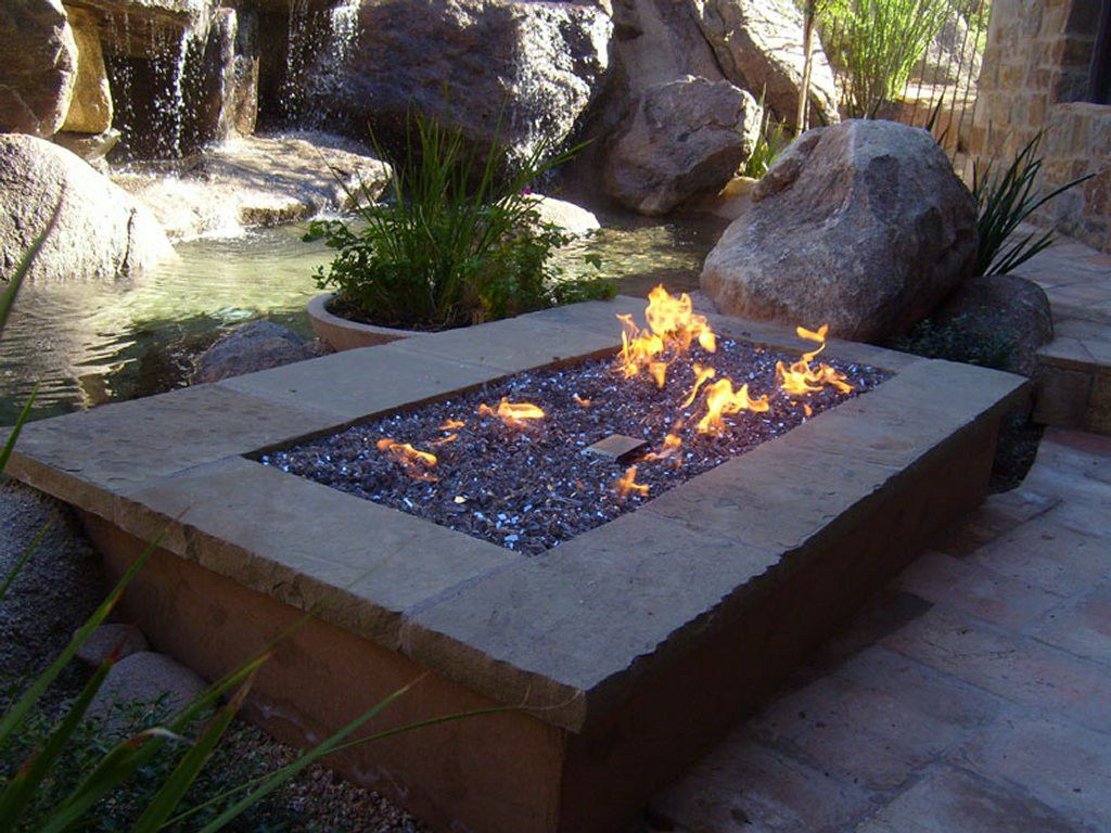 Warming Trends Fr7242ng 72 Rectangle Fire Pit Kit The Fire Pits with measurements 1024 X 768