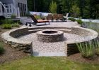 We Love The Look Of This Sunken Fire Pit With Nearly Continuous for sizing 2560 X 1920