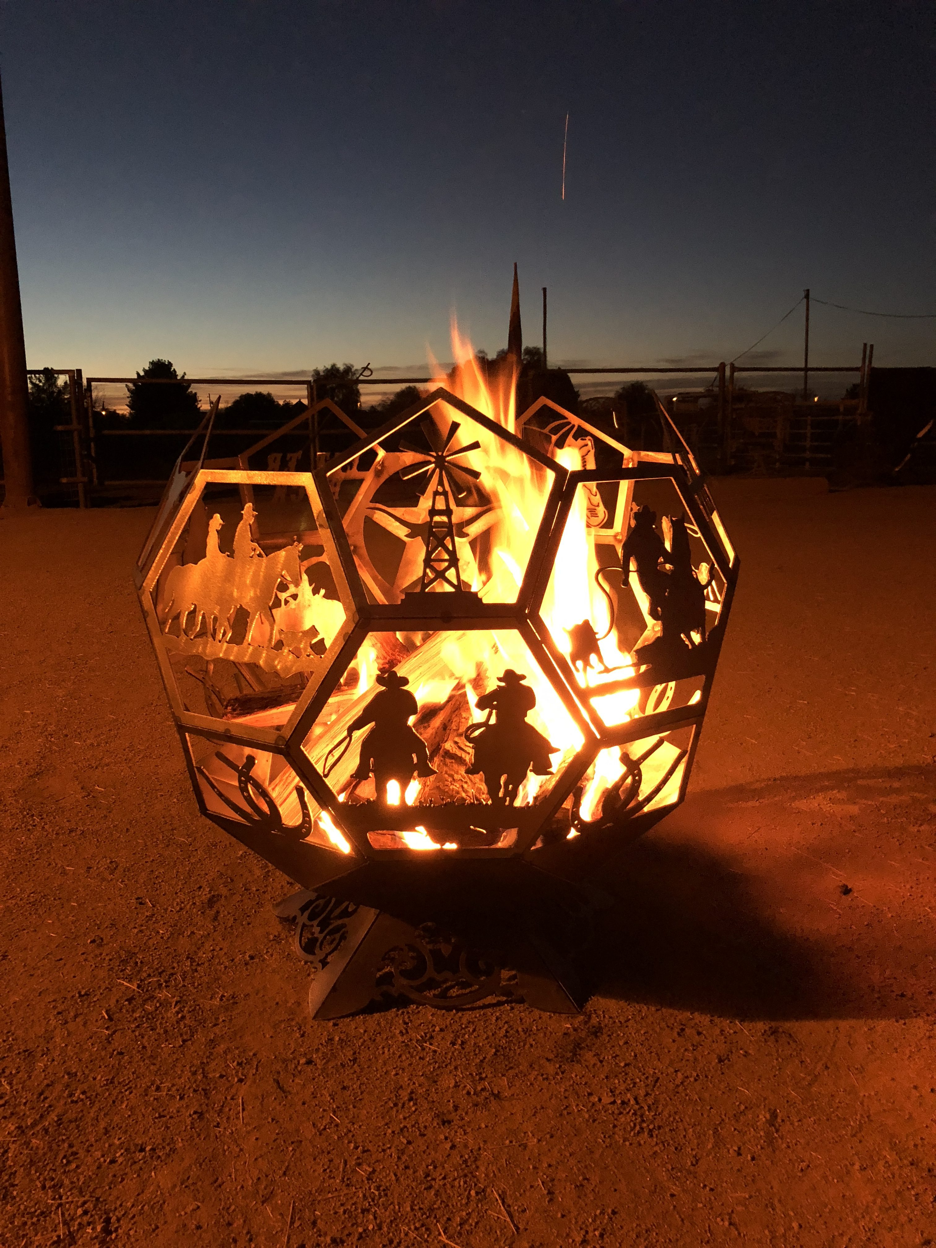 Western Fire Pit Ohton Industries with regard to proportions 3024 X 4032