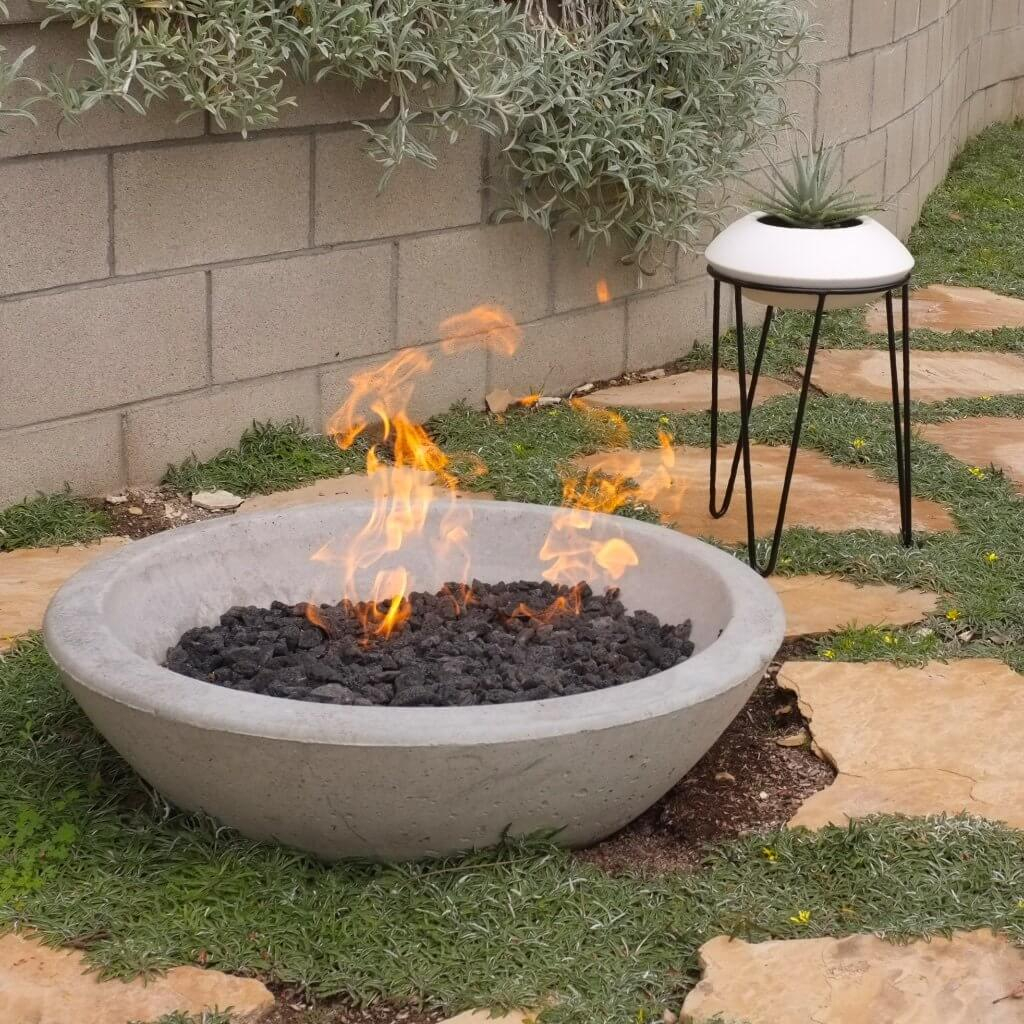 Wok Fire Pit Contemporary Concrete Fire Pits Potted within dimensions 1024 X 1024