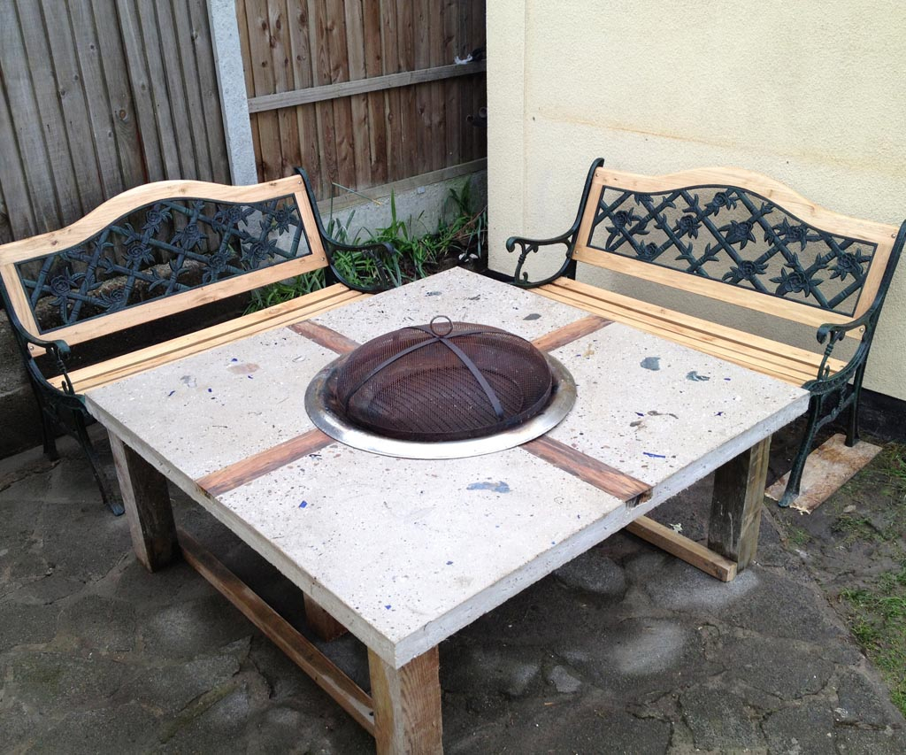 Wood Burning Fire Pit Table And Chairs Fire Pit Design Ideas intended for size 1024 X 853