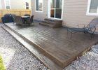 Wood Grain Texture Stamped Concrete Patio Steps Casco Stamped regarding size 1632 X 1224