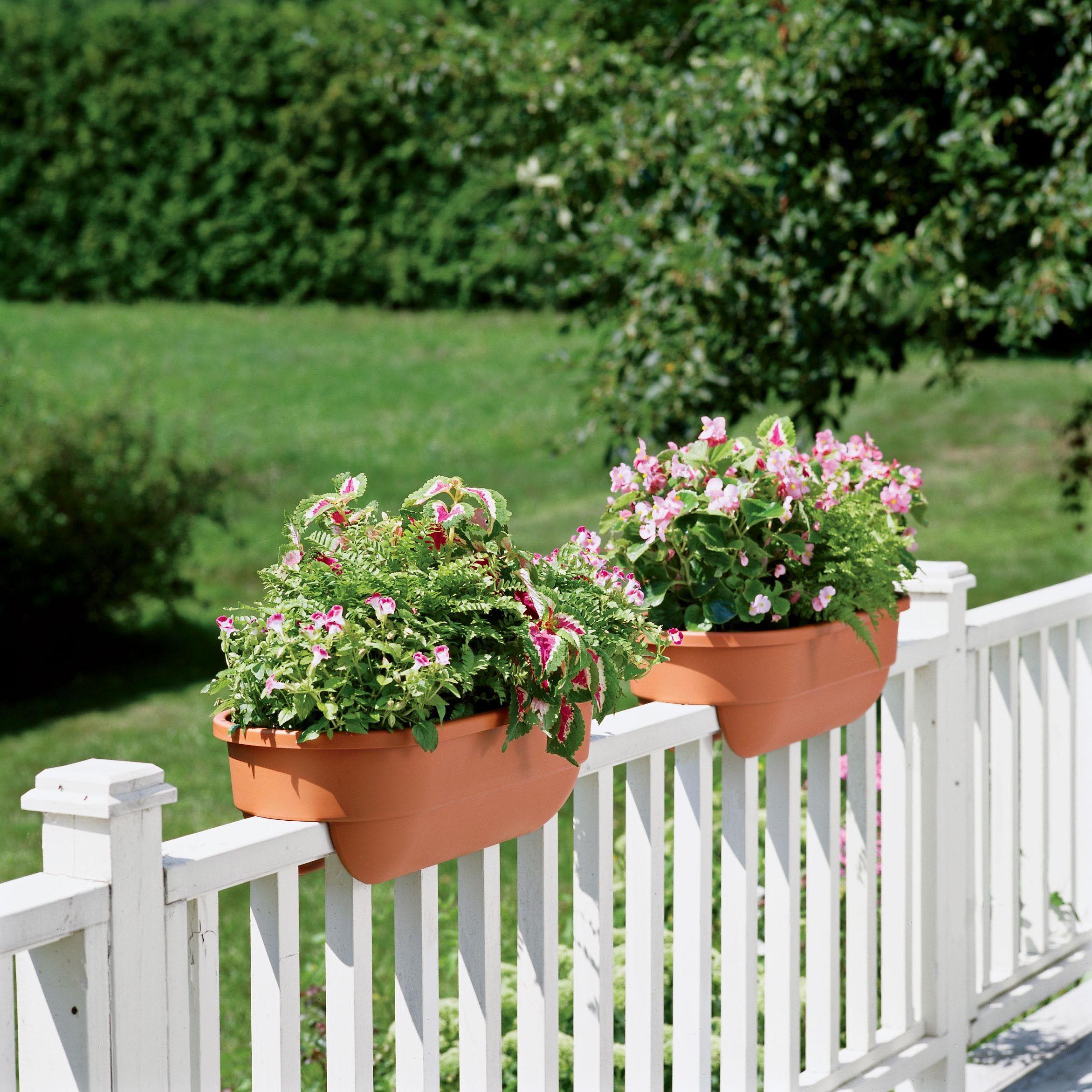 Wooden Deck Rail Planter Boxes Garden Ideas Railing Planters throughout dimensions 2343 X 2343