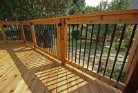 Wooden Deck With Aluminum Balusters And Gate In 2019 Random for sizing 1200 X 803