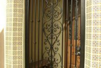 Wrought Iron Security Doors At San Diego With Elegant And Minimalist intended for dimensions 768 X 1024