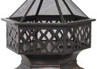Zeny Outdoor Hex Shaped Patio Fire Pit Home Garden Backyard Firepit with regard to sizing 2600 X 2600